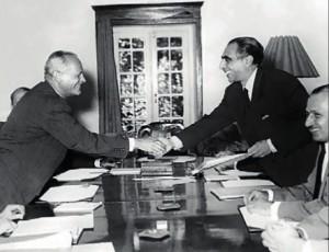 یک سال بعد از کودتا علیه مصدق، قرارداد کنسرسیوم امضا شد
