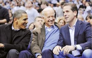 از راست: هانتر بایدن، جو بایدن و باراک اوباما