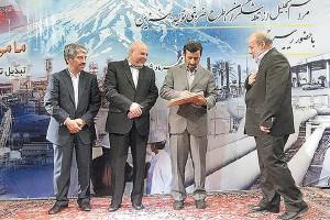 تقدیر رئیس جمهوری از تلاشگران طرح ضربتی تولید بنزین در مهر 1389