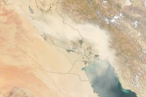 تصویر ناسا از توفان خاک ایران در چند سال قبل