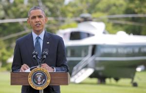 رییسجمهور آمریکا روز 29 ژوییه در ضلع جنوبی کاخ سفید خبر تحریمهای اقتصادی جدید را علیه روسیه اعلام میکند