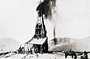 چاه شماره یک مسجدسلیمان در سالهای نخست کشف نفت