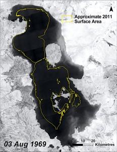 کاهش آب دریاچه ارومیه طی بیش از چهار دهه اخیر