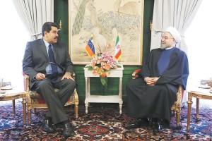 دیدار مادورو با حسن روحانی در دی 1393