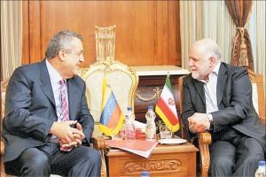 دیدار وزیران نفت ونزوئلا و ایران در بهمن 1394